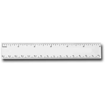 "Ideal 6"" Pocket Ruler"